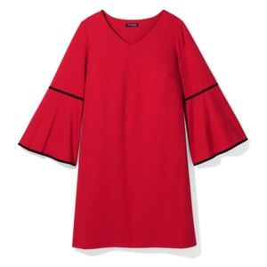 Sharagano Baltimore Red Dress w/Blk Velvet NWT 18W